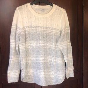 Croft & Barrow Cream and Grey Super Soft Sweater!